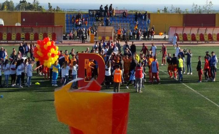 La festa in campo per la promozione in Serie D -  Foto da Facebook
