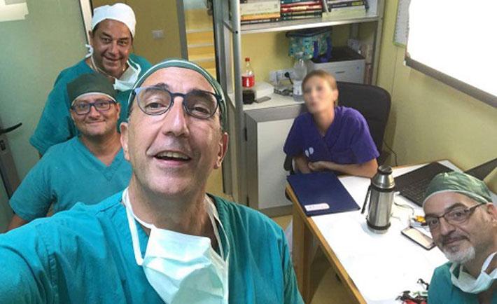 In primo piano il dottore Angelo Di Giunta, alla sua sinistra il dottore Massimo Misiti