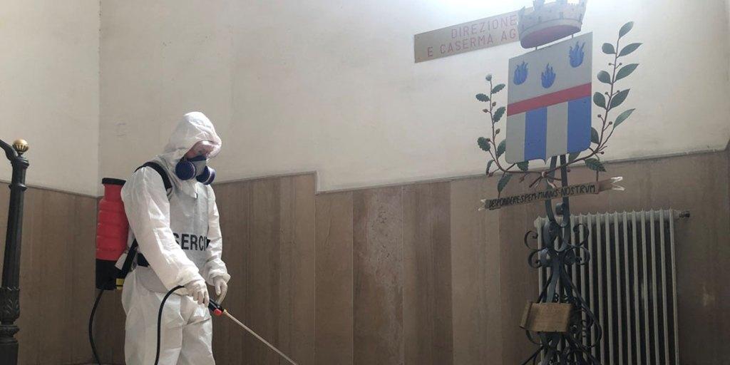 esercito sanifica casa circondariale foggia