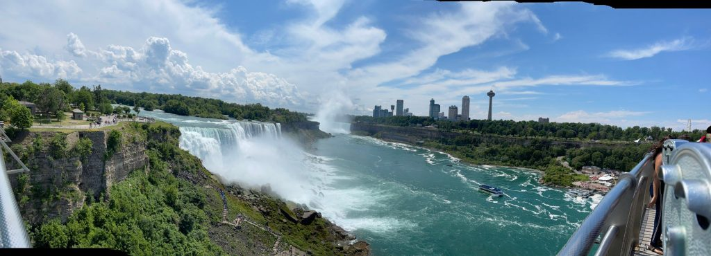 American Falls with Horseshoe Falls in Background