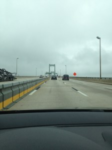 Crossing the Walt Whitman into Philly.