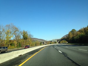 On the way, Delaware Water Gap on the horizon.