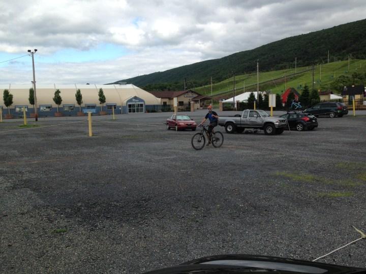 Jonny G rolling in after riding 39.5mi w/11,573ft in elevation!