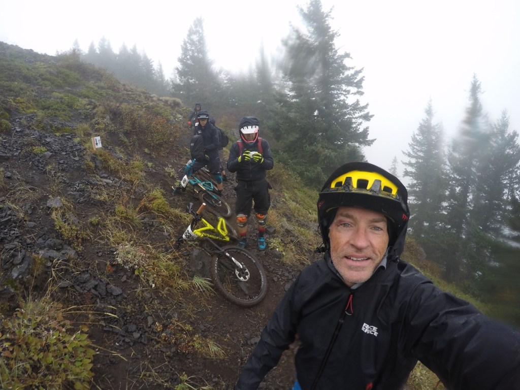 High up in freezing rain mixed with snow!