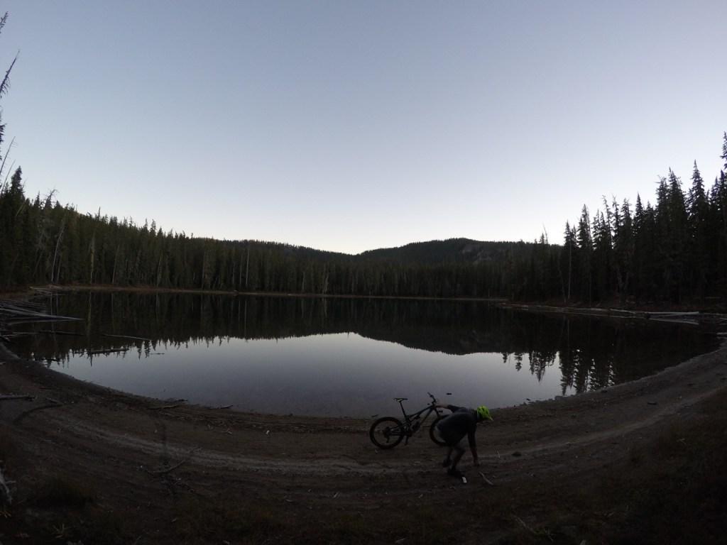 Spring Lake at dusk.