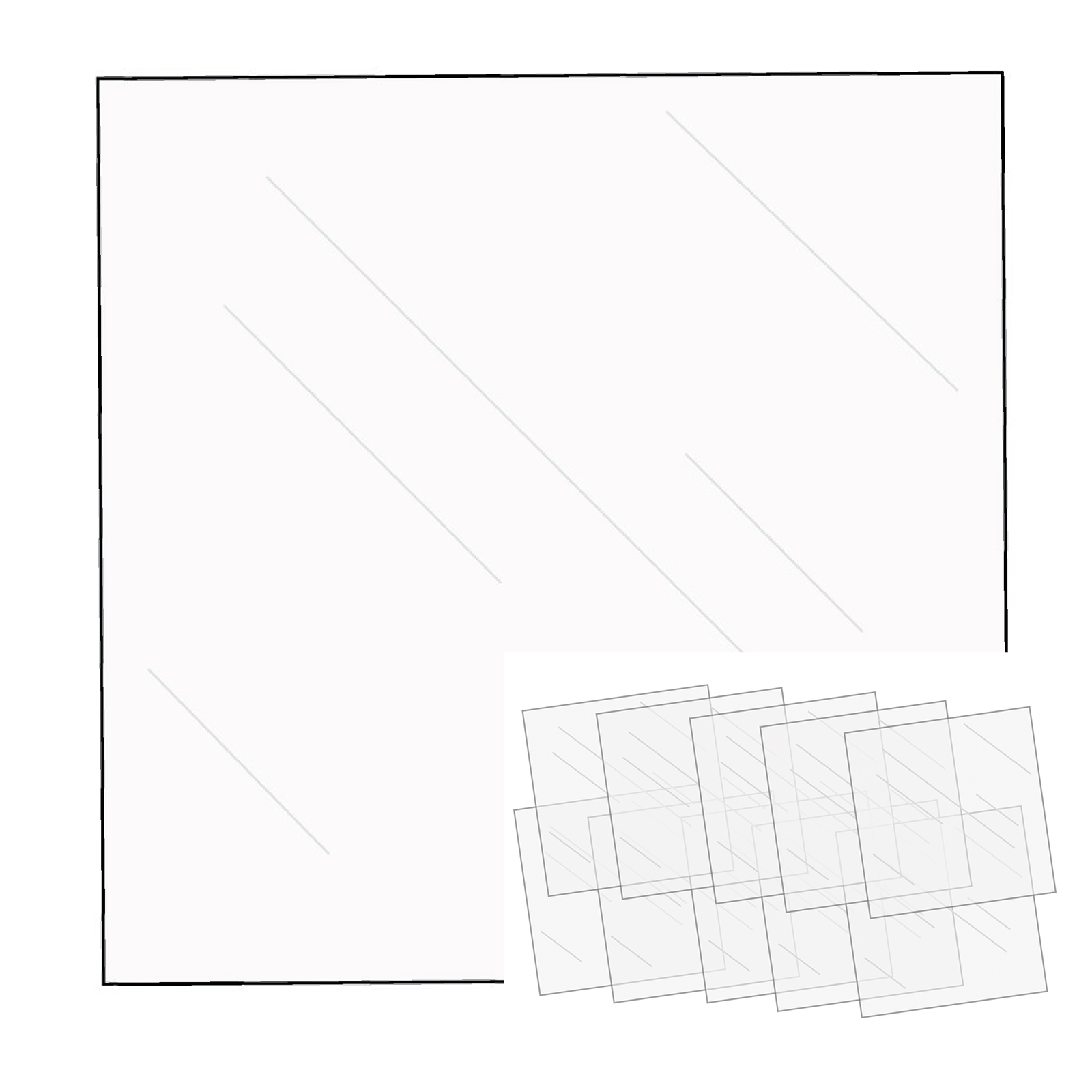 12 X 12 Fuseable Clear Sheet 10 Pack We R Memory Keepers