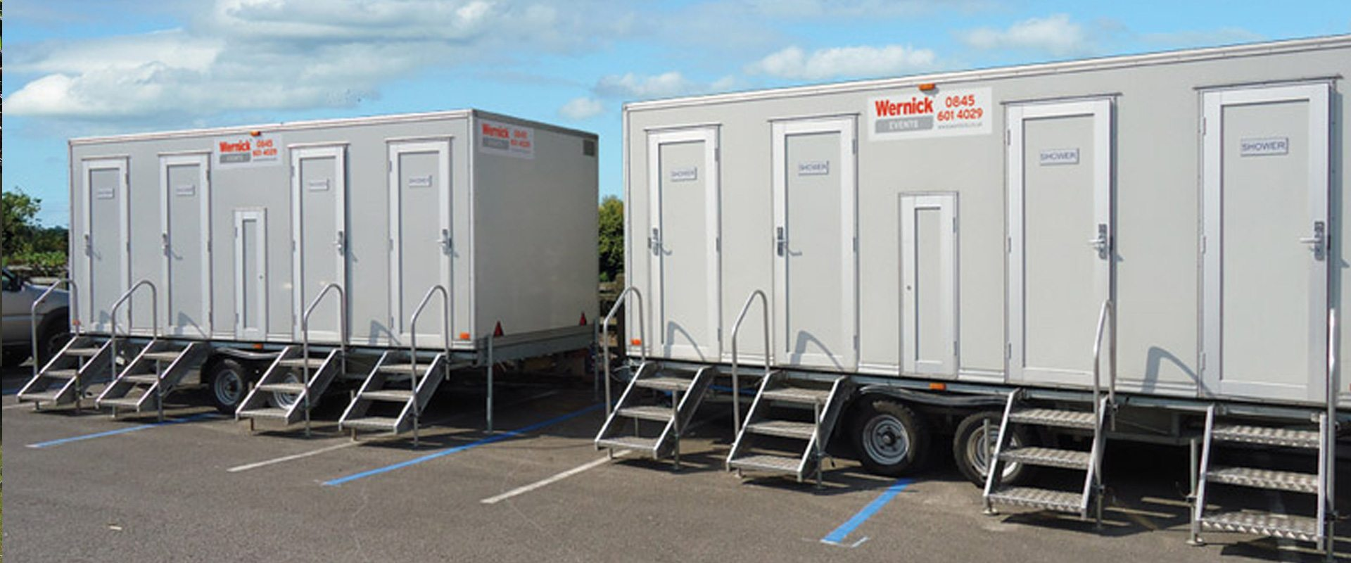 Mobile Shower Units for Hire  Wernick Events