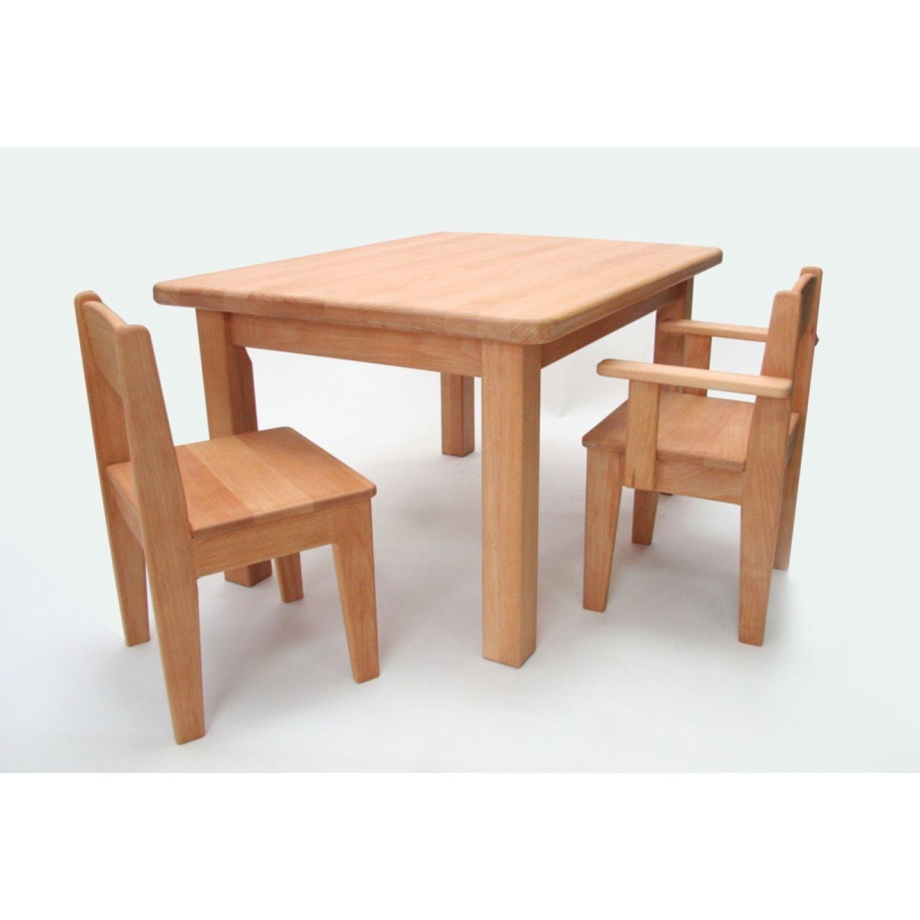 Kinderstuhl Holz Buche gelt Sitzhhe 26 cm (Tisch