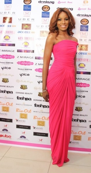 Seyi Shay at the Genevive pink ball