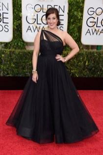 Allison Tolman attends the 72nd annual Golden Globe Awards