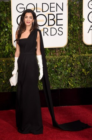 Amal Alamuddin Clooney attends the 72nd annual Golden Globe Awards