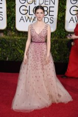 Anna Kendrick attends the 72nd annual Golden Globe Awards