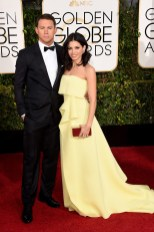 Channing and Dewan Tatum attends the 72nd annual Golden Globe Awards