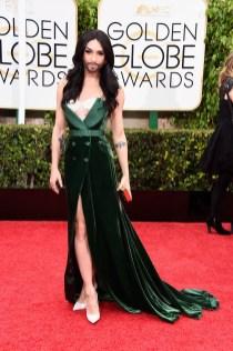 Conchita Wurst attends the 72nd annual Golden Globe Awards