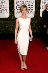 Felicity Huffman attends the 72nd annual Golden Globe Awards