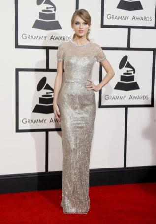 Taylor Swift in Gucci at the 2014 Grammy Awards