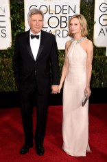 Harrison Ford and Calista Flockhart attends the 72nd annual Golden Globe Awards