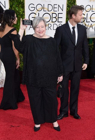Kathy Bates attends the 72nd annual Golden Globe Awards