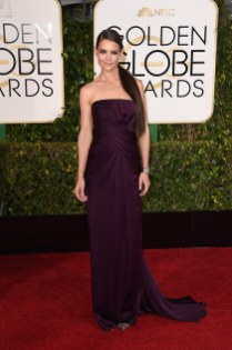 Katie Holmes attends the 72nd annual Golden Globe Awards
