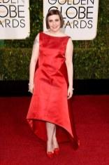 Lena Dunham attends the 72nd annual Golden Globe Awards