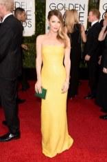 Leslie Mann attends the 72nd annual Golden Globe Awards
