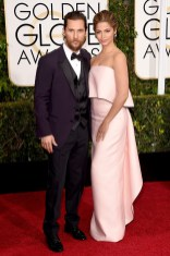 Mathew McConaughey and Camila Alves attends the 72nd annual Golden Globe Awards