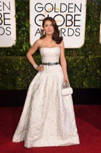 Salma Hayek attends the 72nd annual Golden Globe Awards