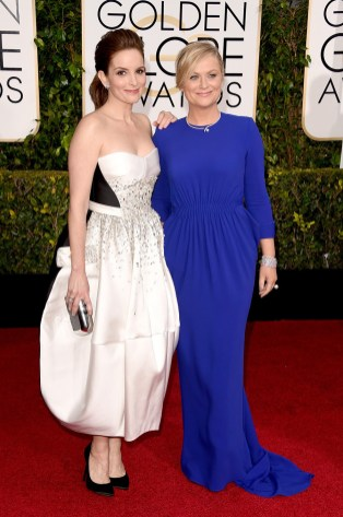 Tina Fey and Amy Peohler the hosts of the 72nd annual Golden Globe Awards