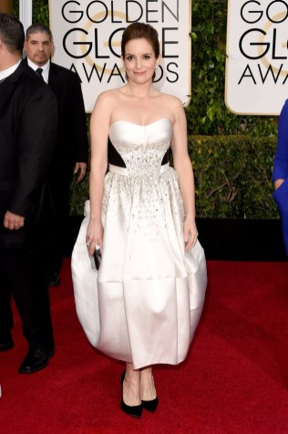 Tina Fey attends the 72nd annual Golden Globe Awards
