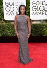 Uzo Aduba attends the 72nd annual Golden Globe Awards
