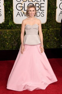 Zosia Mamet attends the 72nd annual Golden Globe Awards
