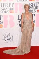 Rita Ora at the 2015 Brit Awards