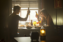 """The Vampire Diaries -- """"Black Hole Sun"""" -- Image Number: VD604b_0084.jpg -- Pictured (L-R): Paul Wesley as Stefan and Nina Dobrev as Elena -- Photo: Bob Mahoney/The CW -- © 2014 The CW Network, LLC. All rights reserved."""