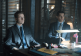 "GOTHAM: Detective James Gordon (Ben McKenzie, L) and Harvey Dent (guest star Nicholas D'Agosto, R) are reprimanded by the Mayor in the ""Lovecraft"" episode of GOTHAM airing Monday, Nov. 24 (8:00-9:00 PM ET/PT) on FOX. ©2014 Fox Broadcasting Co. Cr: Jessica Miglio/FOX"