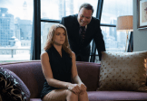 "GOTHAM: Butch Gilzean (guest star Drew Powell, R) pays Barbara Kean (Erin Richards, L) a visit in the ""Penguin's Umbrella"" episode of GOTHAM airing Monday, Nov. 3 (8:00-9:00 PM ET/PT) on FOX. ©2014 Fox Broadcasting Co. Cr: Jessica Miglio/FOX"