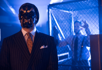"""GOTHAM: Guest star Todd Stashwick (L) as Richard Sionis in the """"The Mask"""" episode of GOTHAM airing Monday, Nov. 10 (8:00-9:00 PM ET/PT) on FOX. ©2014 Fox Broadcasting Co. Cr: Jessica Miglio/FOX"""