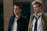 """CONSTANTINE -- """"A Feast of Friends"""" Episode 105 -- Pictured: (l-r) Jonjo O'Neil as Gary Lester, Matt Ryan as Constantine -- (Photo by: Tina Rowden/NBC)"""