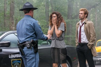 "CONSTANTINE -- ""Danse Vaudou"" Episode 106 -- Pictured: (l-r) Angelica Celaya as Zed, Matt Ryan as John Constantine -- (Photo by: Tina Rowden/NBC)"