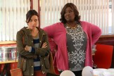 "PARKS AND RECREATION -- ""New Slogan"" Episode 616 -- Pictured: Aubrey Plaza as April Ludgate, Retta as Donna Meagle -- (Photo by: Byron Cohen/NBC)"