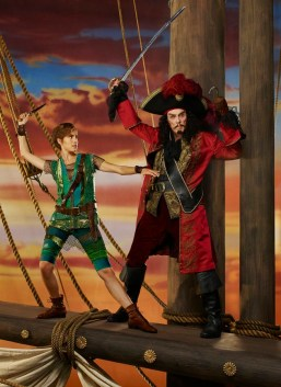 PETER PAN LIVE! -- Season: 2014 -- Pictured: (l-r) Allison Williams as Peter Pan, Christopher Walken as Captain Hook -- (Photo by: Nino Munoz/NBC)