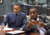 """EMPIRE: Andre (Trai Byers, L) and Vernon (Malik Yoba, R) attend a meeting in the """"Outspoken King"""" episode of EMPIRE airing Monday, Jan. 14 (9:00-10:00 PM ET/PT) on FOX. ©2014 Fox Broadcasting Co. CR: Chuck Hodes/FOX"""