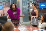 """EMPIRE: Cookie (Taraji P. Henson, L) takes over Anika's (Grace Gealey, R) meeting in the """"False Imposition"""" episode of EMPIRE airing Wednesday, Jan. 28 (9:00-10:00 PM ET/PT) on FOX. ©2014 Fox Broadcasting Co. CR: Chuck Hodes/FOX"""