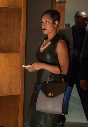 "EMPIRE: Anika (Grace Gealey, L) is all business in the ""False Imposition"" episode of EMPIRE airing Wednesday, Jan. 28 (9:00-10:00 PM ET/PT) on FOX. ©2014 Fox Broadcasting Co. CR: Matt Dinnerstein/FOX"