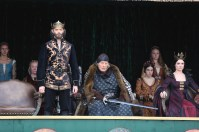 """GALAVANT - """"Death After Brunch"""" - Thinking about being in a relationship, Isabella wants Galavant to try to impress her parents with attentive small talk, but he's confident that breaking everyone out of prison will impress them and save them from certain death. Galavant gets his opportunity for a hero moment when King Richard challenges his brother to a duel and needs a champion to fight for him, on """"Galavant,"""" airing SUNDAY, JANUARY 25 (8:00-8:30 p.m., ET) on the ABC Television Network. (ABC/Nick Ray) TIMOTHY OMUNDSON, RUTGER HAUER, MALLORY JANSEN"""