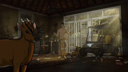 """ARCHER: Episode 1, Season 6 """"The Holdout"""" (Airing Thursday, January 8, 10:00 PM e/p) Archer must salvage a crashed plane in a jungle filled with relics from World War II. Pictured: Sterling Archer (voice of H. Jon Benjamin). CR: FX"""