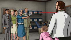 "ARCHER: Episode 2, Season 6 ""Three to Tango"" (Airing Thursday, January 15, 10:00 PM e/p) An agent from the past has a hand creating tension between Archer and Lana. Pictured: (L-R) Cyril Figgis (voice of Chris Parnell), Pam Poovey (voice of Amber Nash), Malory Archer (voice of Jessica Walter), Ray Gillette (voice of Adam Reed), Dr. Krieger (voice of Lucky Yates). CR: FX"