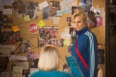 """GLEE: Becky (Lauren Potter, L) and Sue (Jane Lynch, R) plan against the Glee club in the """"The Hurt Locker, Part Two"""" episode of GLEE airing Friday, Jan. 30 (9:00-10:00 PM ET/PT) on FOX. ©2014 Fox Broadcasting Co. CR: Adam Rose/FOX"""