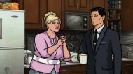 """ARCHER: Episode 4, Season 6 """"Edie's Wedding"""" (Airing Thursday, January 29, 10:00 PM e/p) Pam takes Archer to her sister's wedding but gets side-tracked with technical difficulties. Pictured: (L-R) Pam Poovey (voice of Amber Nash), Sterling Archer (voice of H. Jon Benjamin). CR: FX"""