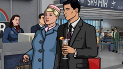 "ARCHER: Episode 4, Season 6 ""Edie's Wedding"" (Airing Thursday, January 29, 10:00 PM e/p) Pam takes Archer to her sister's wedding but gets side-tracked with technical difficulties. Pictured: (L-R) Pam Poovey (voice of Amber Nash), Sterling Archer (voice of H. Jon Benjamin). CR: FX"