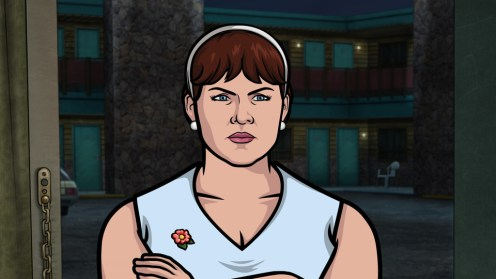 "ARCHER: Episode 4, Season 6 ""Edie's Wedding"" (Airing Thursday, January 29, 10:00 PM e/p) Pam takes Archer to her sister's wedding but gets side-tracked with technical difficulties. Pictured: Edie Poovey (voice of Allison Tolman). CR: FX"